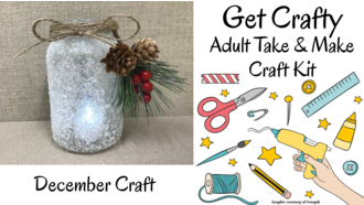 December Adult Take and Make Craft Kit graphic