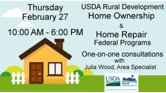 USDA Home Ownership & Home Repair Help graphic