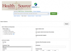 Health Source: Consumer Editiion screenshot