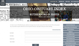 RB Hayes Obituary Index screenshot